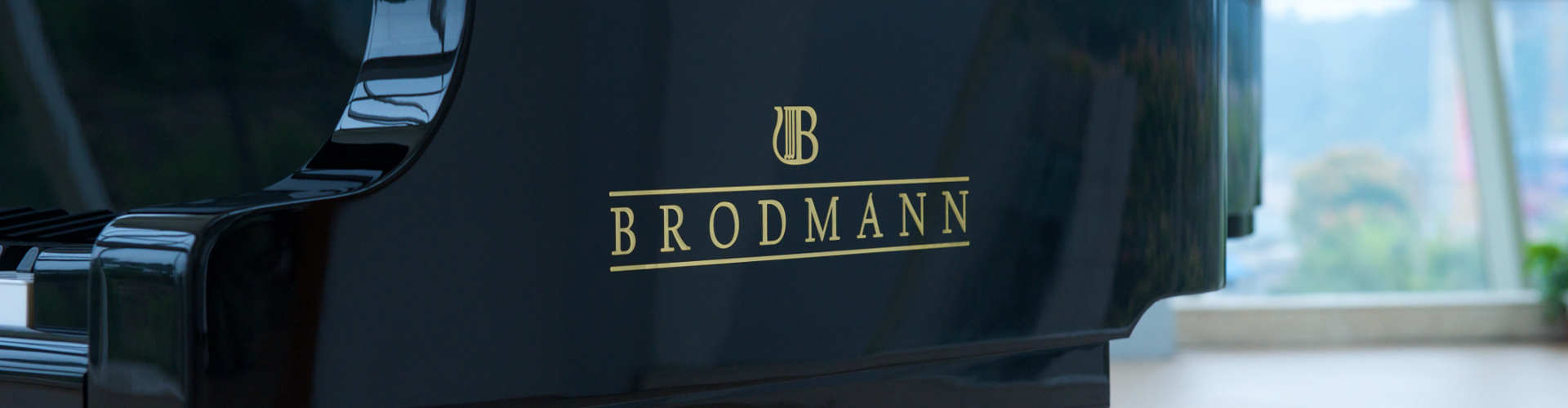 Side view of a Brodmann grand piano