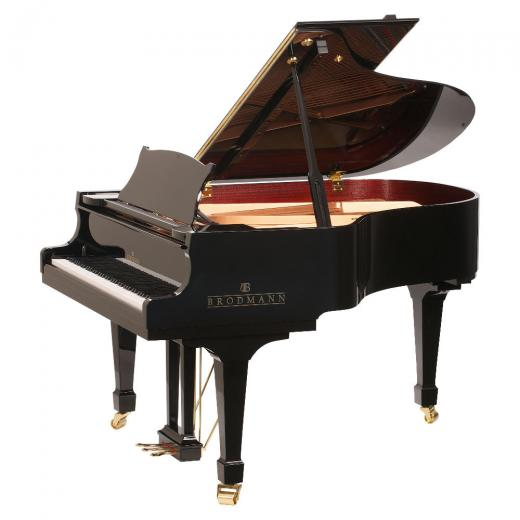 "Brodmann PE 187 grand piano  6'2""  ebony polish"