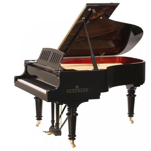 "Brodmann PE 187 Strauss grand piano 6'2""  ebony polish"